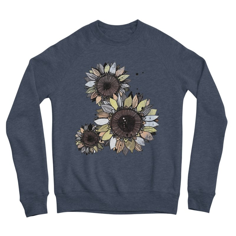 Sunflowers (White) Women's Sponge Fleece Sweatshirt by ilustramar's Artist Shop