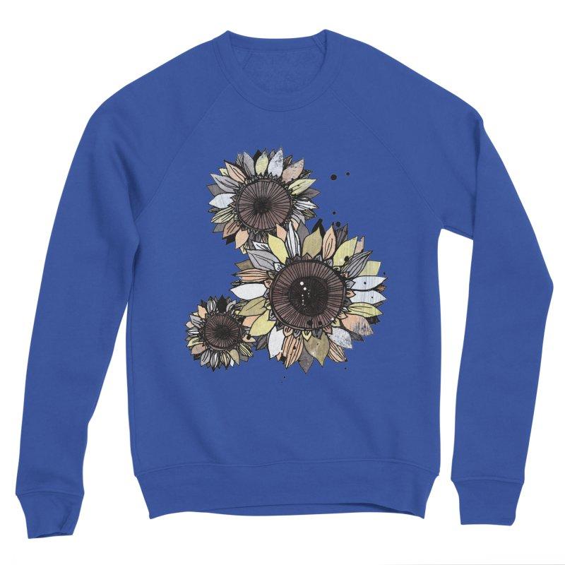 Sunflowers (White) Women's Sponge Fleece Sweatshirt by ilustramar's Artist Shop