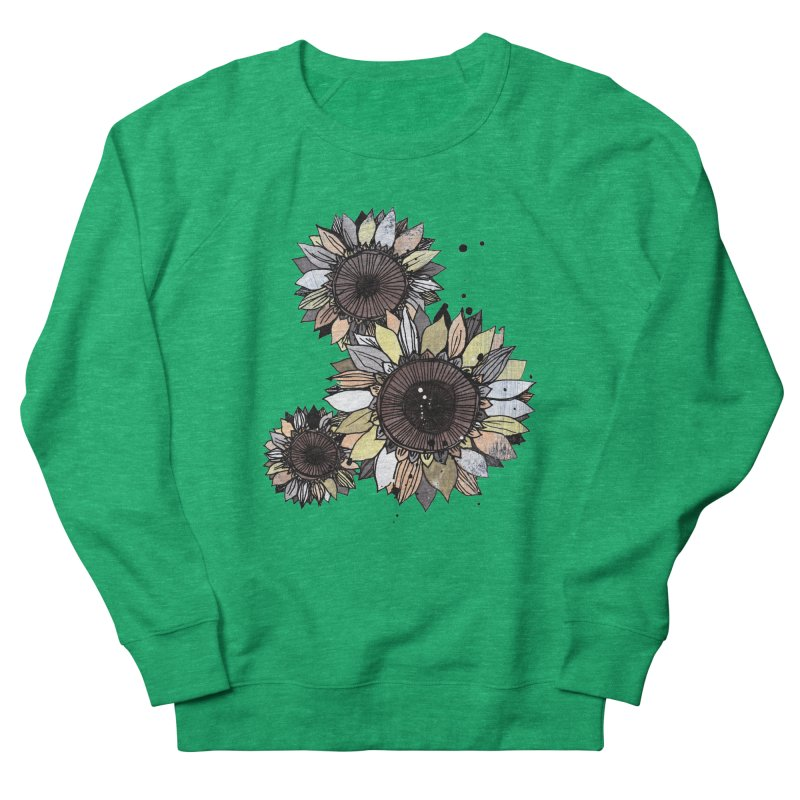 Sunflowers (White) Women's Sweatshirt by ilustramar's Artist Shop