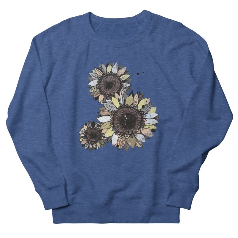 Sunflowers (White) Men's Sweatshirt by ilustramar's Artist Shop