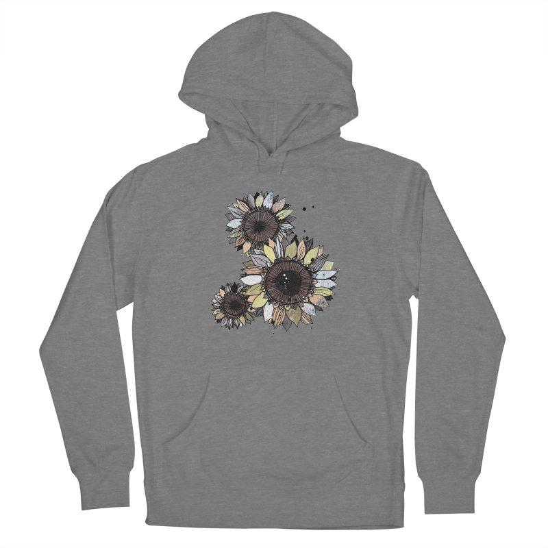 Sunflowers (White) Women's Pullover Hoody by ilustramar's Artist Shop