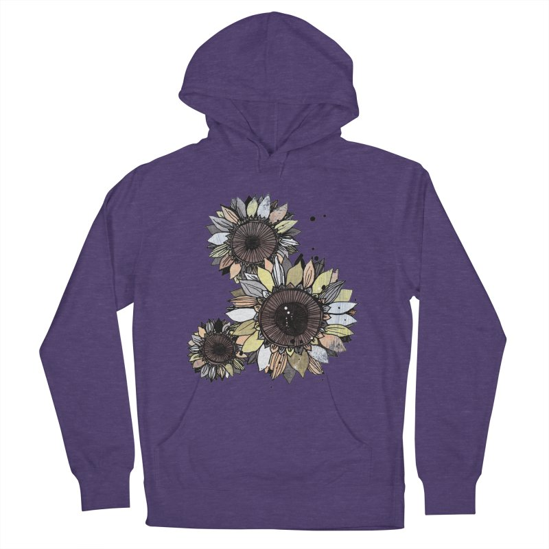 Sunflowers (White) Women's French Terry Pullover Hoody by ilustramar's Artist Shop