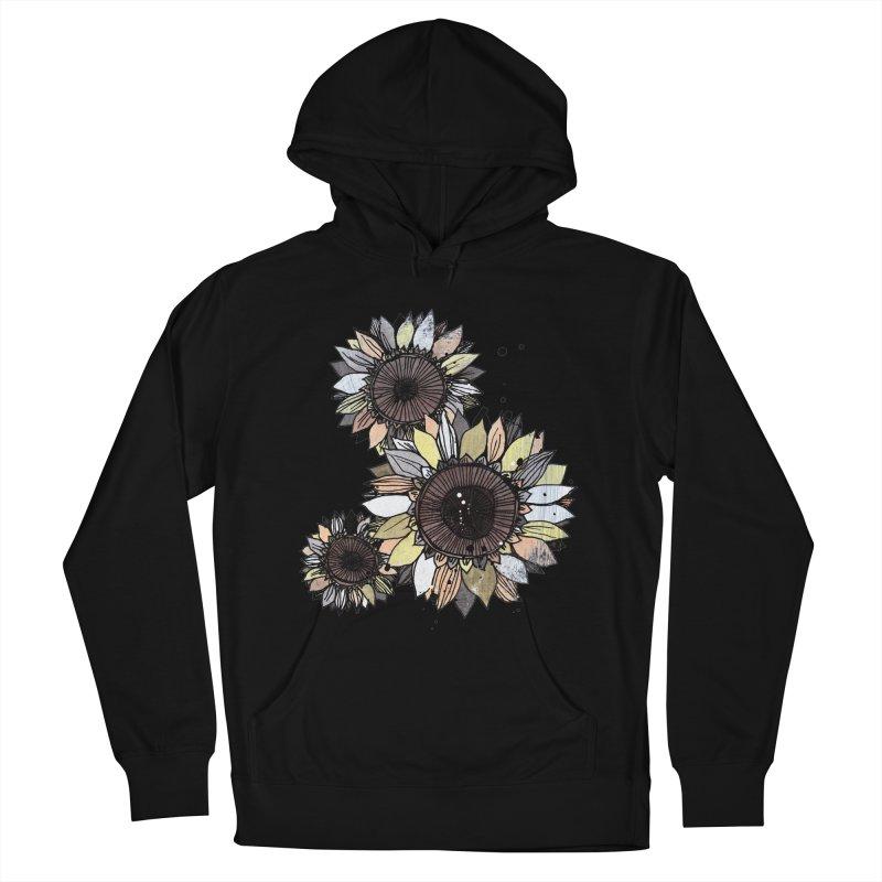 Sunflowers (White) Men's Pullover Hoody by ilustramar's Artist Shop