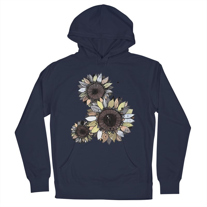 Sunflowers (White) Men's Pullover Hoody by ilustramar's Artist Shop