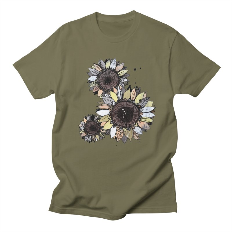 Sunflowers (White) Women's Regular Unisex T-Shirt by ilustramar's Artist Shop