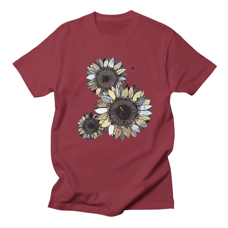 Sunflowers (White) Men's T-Shirt by ilustramar's Artist Shop