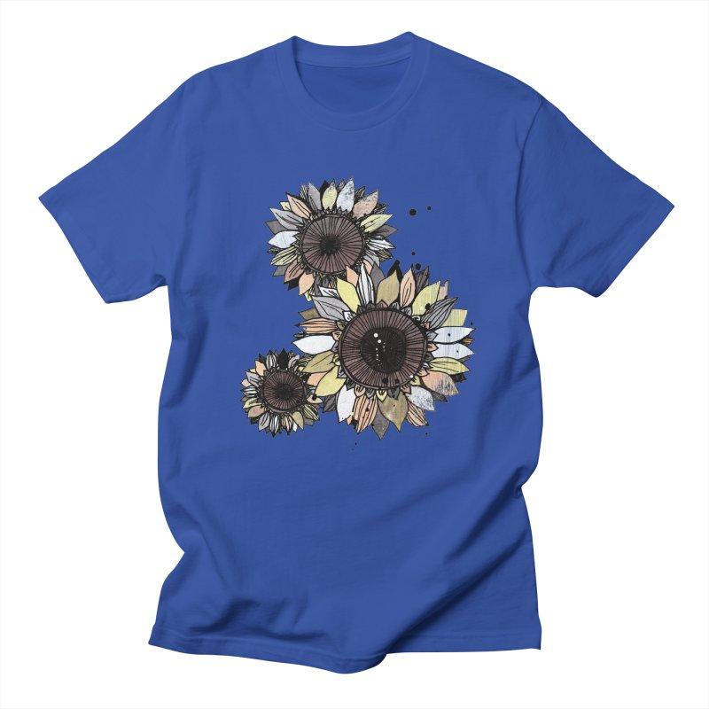 Sunflowers (White) Women's Regular Unisex T-Shirt by ilustramar's Artist Shop