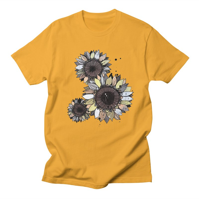 Sunflowers (White) Men's Regular T-Shirt by ilustramar's Artist Shop