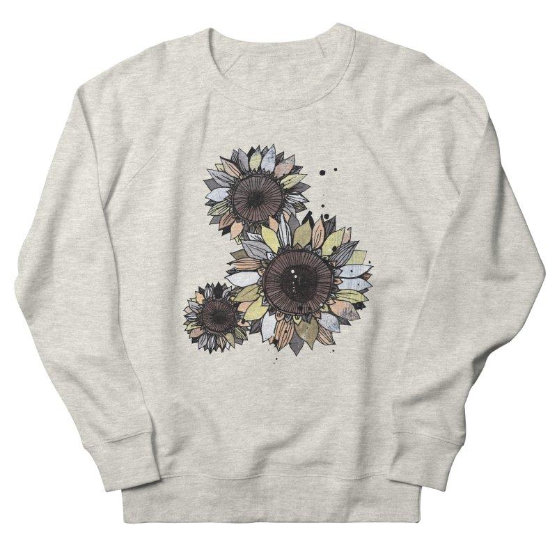 Sunflowers (White) Men's Sweatshirt by ilustramar's Artist Shop