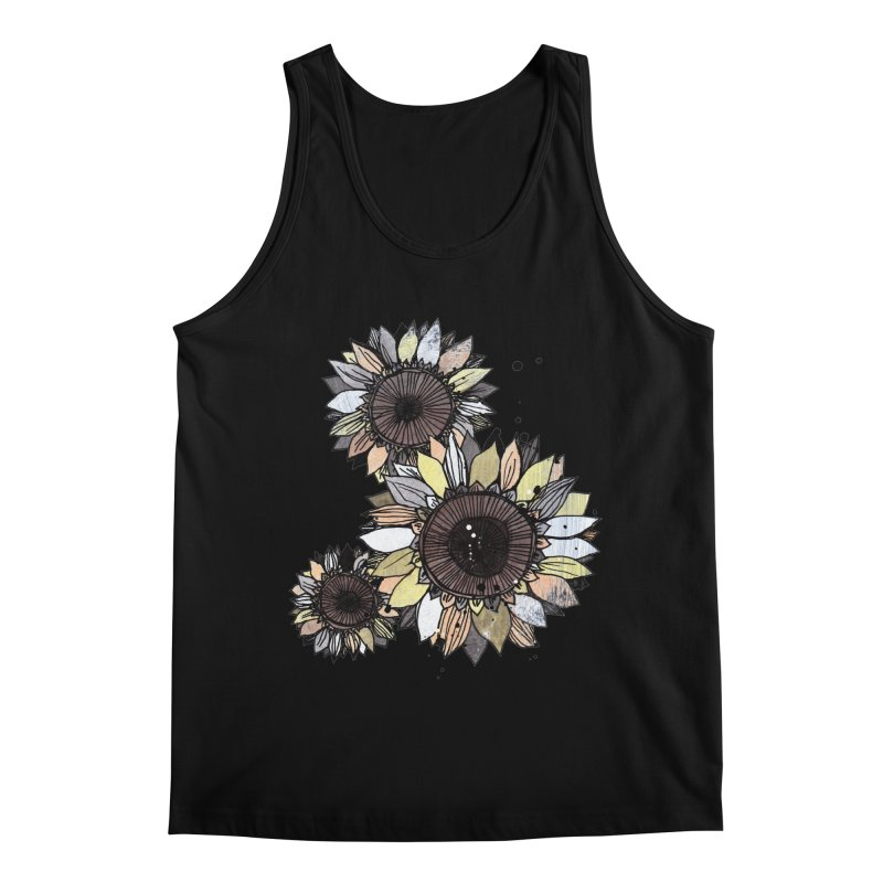 Sunflowers (White) Men's Tank by ilustramar's Artist Shop