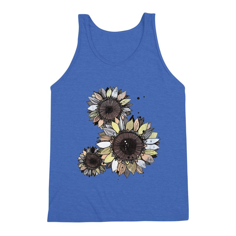 Sunflowers (White) Men's Tank by ilustramar's Artist Shop