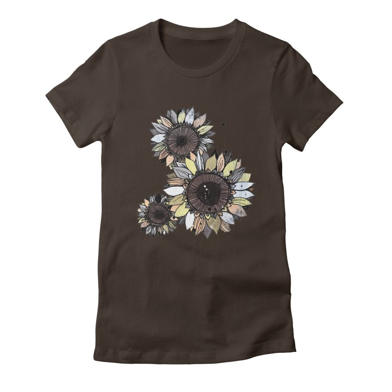 Sunflowers (White) Women's T-Shirt by ilustramar's Artist Shop