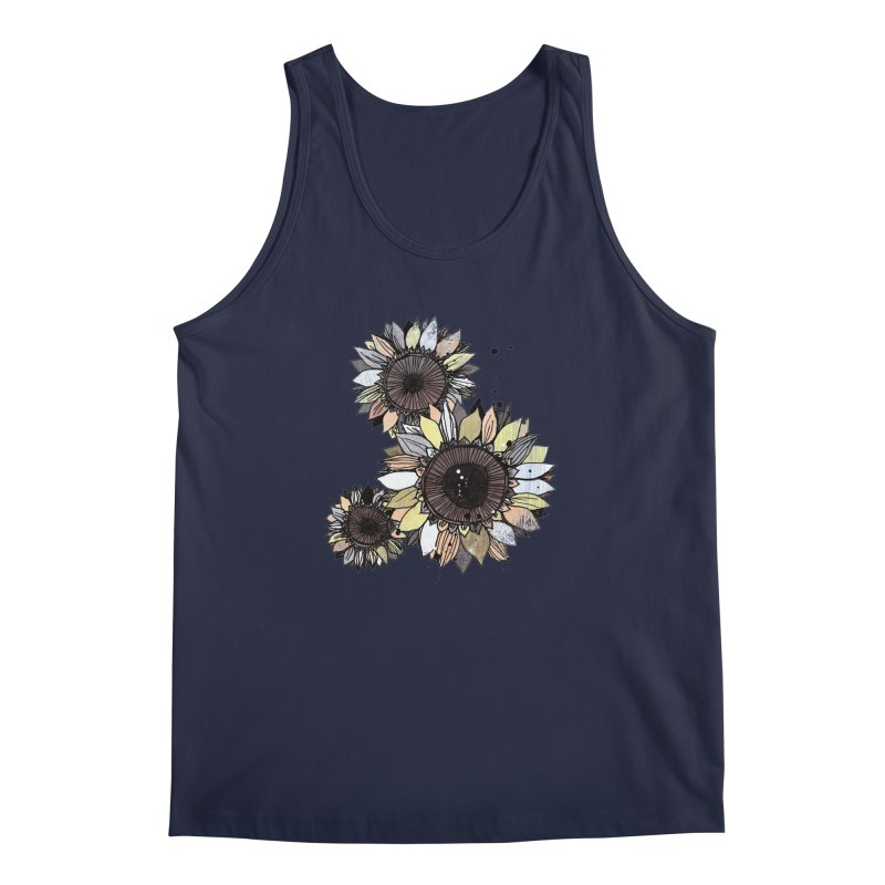 Sunflowers (White) Men's Regular Tank by ilustramar's Artist Shop