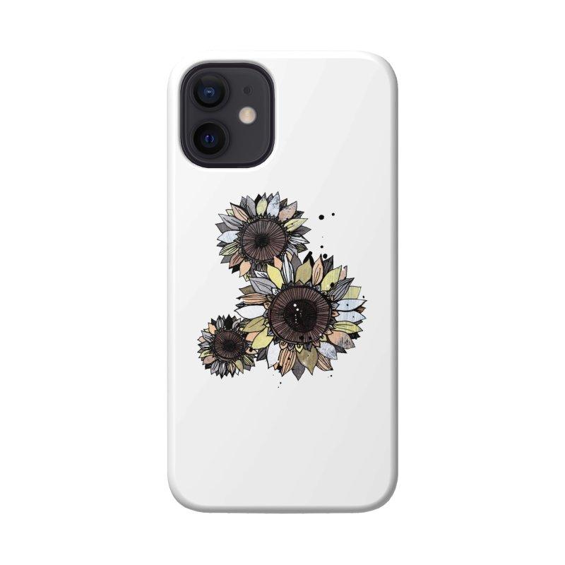 Sunflowers (White) Accessories Phone Case by ilustramar's Artist Shop