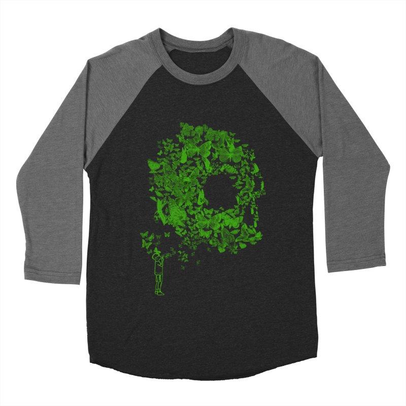 SKULL BUTTERFLY Men's Baseball Triblend T-Shirt by ilustramurilo's Artist Shop