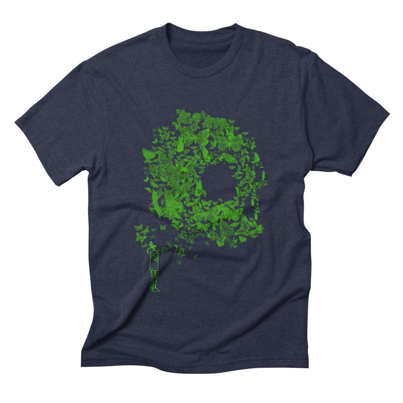 SKULL BUTTERFLY Men's Triblend T-shirt by ilustramurilo's Artist Shop