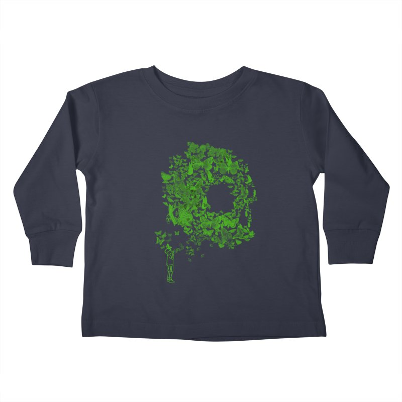 SKULL BUTTERFLY Kids Toddler Longsleeve T-Shirt by ilustramurilo's Artist Shop