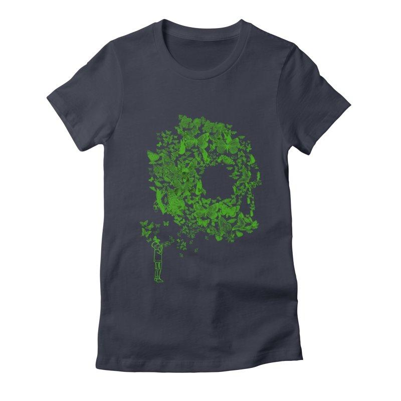 SKULL BUTTERFLY Women's Fitted T-Shirt by ilustramurilo's Artist Shop
