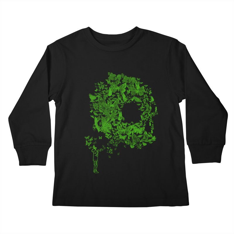 SKULL BUTTERFLY Kids Longsleeve T-Shirt by ilustramurilo's Artist Shop