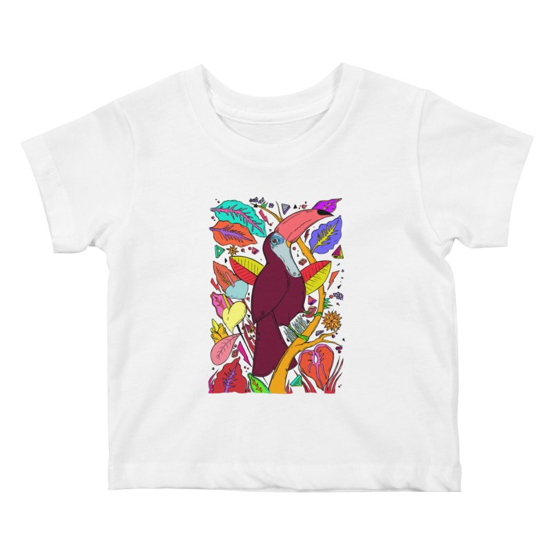 TOUCAN Kids Baby T-Shirt by ilustramurilo's Artist Shop