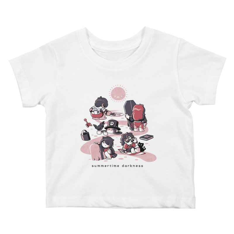 Summertime Darkness Kids Baby T-Shirt by ilustrata