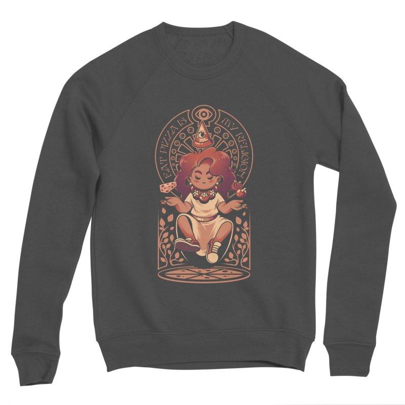 Pizza Goddess Men's Sponge Fleece Sweatshirt by ilustrata