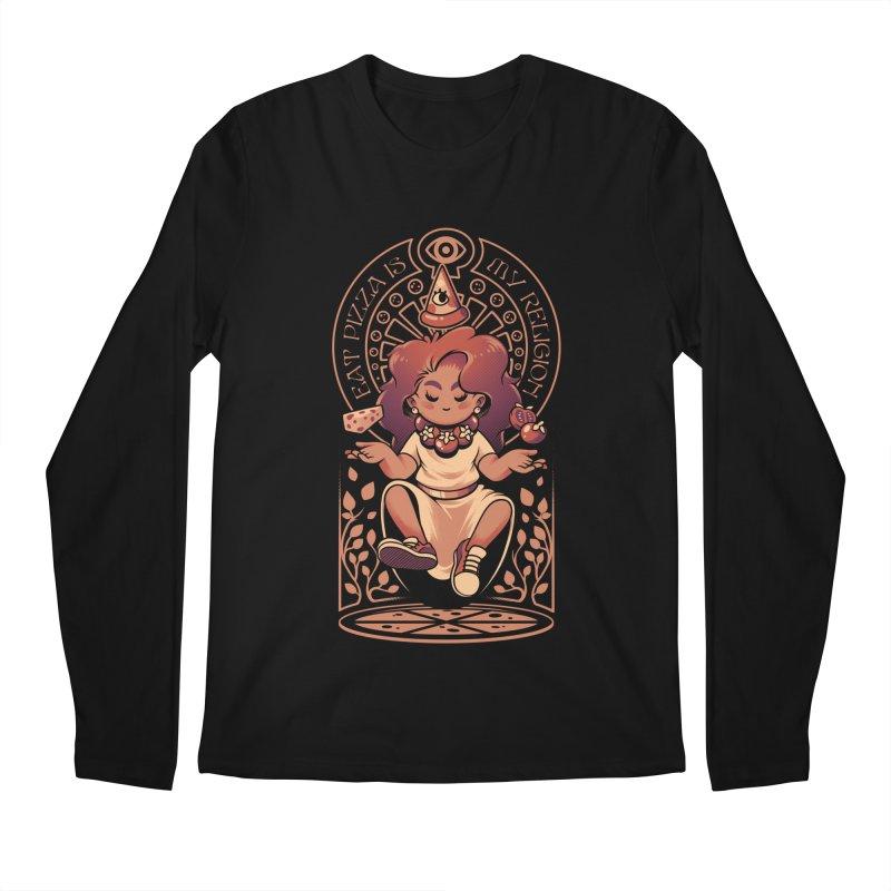 Pizza Goddess Men's Regular Longsleeve T-Shirt by ilustrata