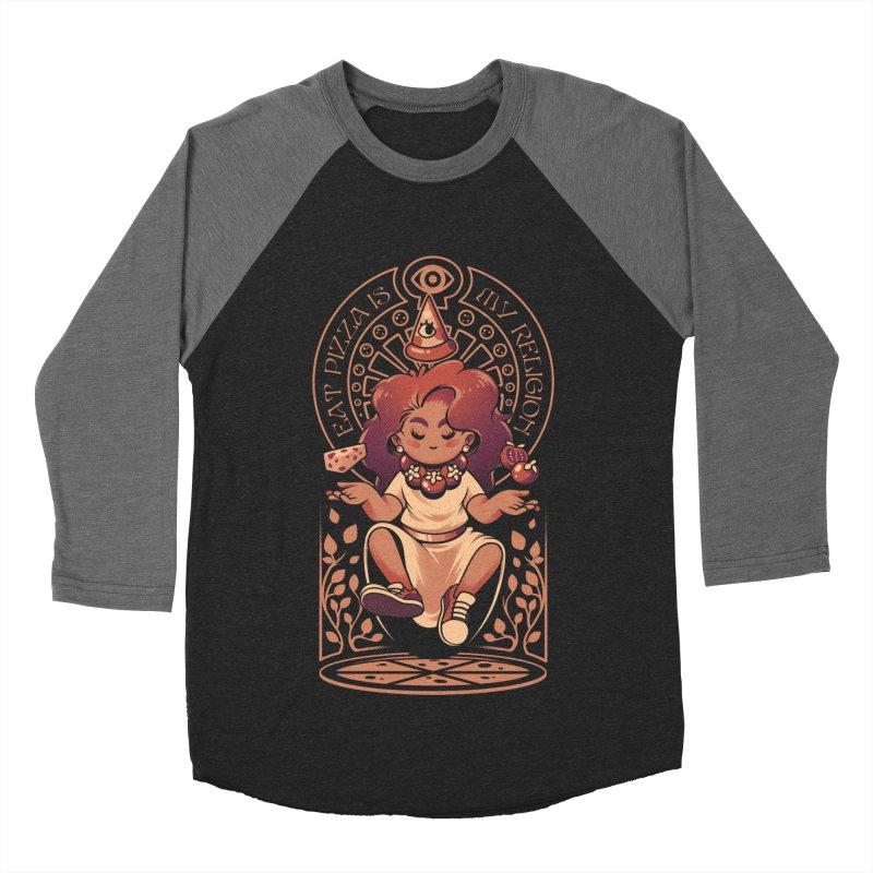 Pizza Goddess Men's Baseball Triblend Longsleeve T-Shirt by ilustrata