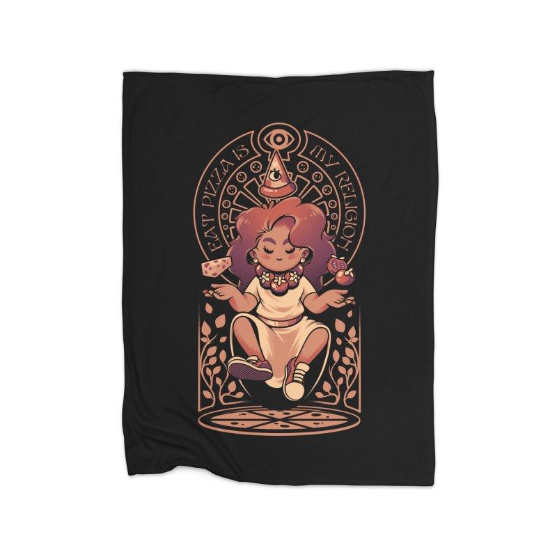 Pizza Goddess Home Fleece Blanket Blanket by ilustrata