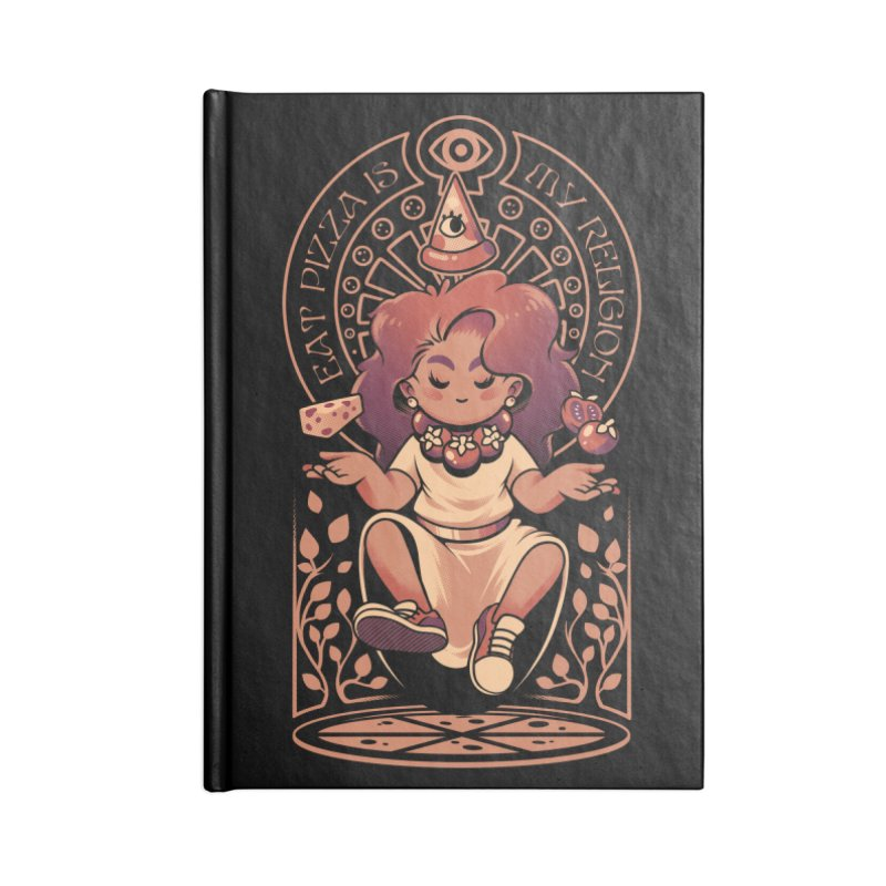 Pizza Goddess Accessories Lined Journal Notebook by ilustrata