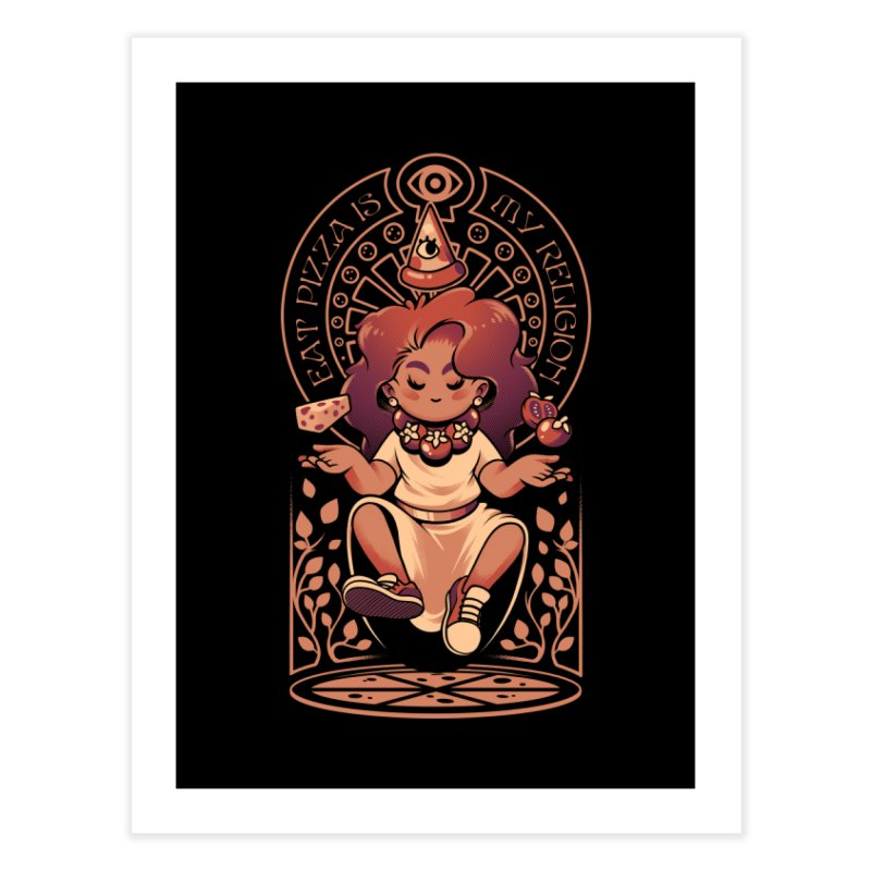 Pizza Goddess Home Fine Art Print by ilustrata