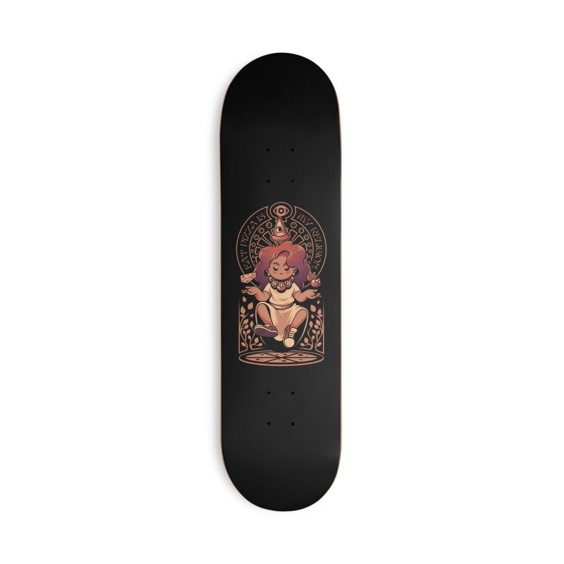 Pizza Goddess Accessories Deck Only Skateboard by ilustrata