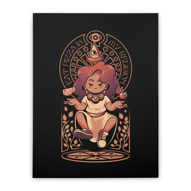 Pizza Goddess Home Stretched Canvas by ilustrata