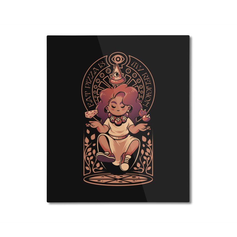 Pizza Goddess Home Mounted Aluminum Print by ilustrata