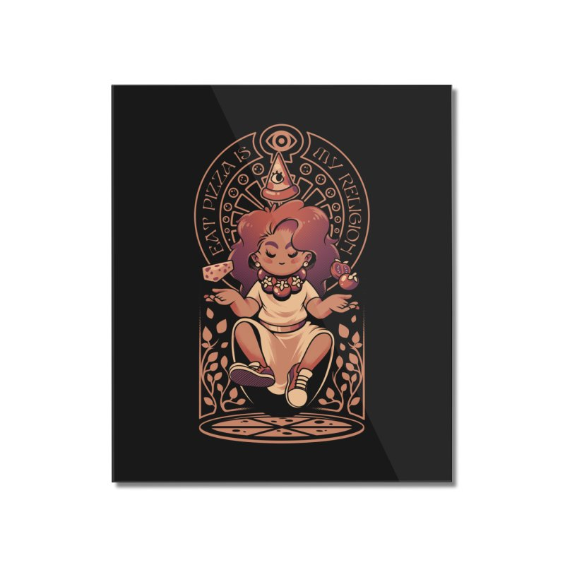 Pizza Goddess Home Mounted Acrylic Print by ilustrata