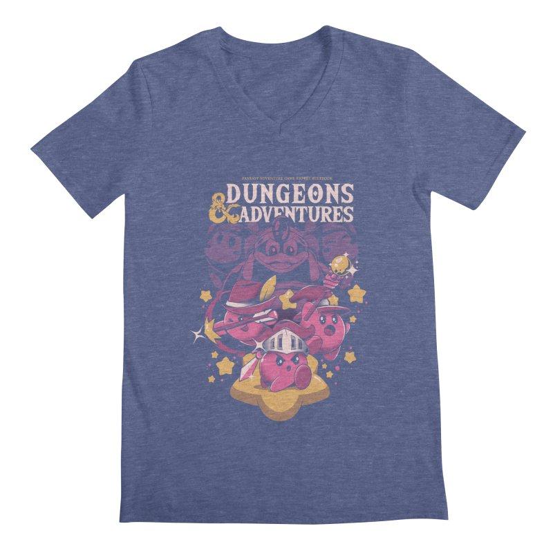 Dungeons and Adventures Men's Regular V-Neck by ilustrata