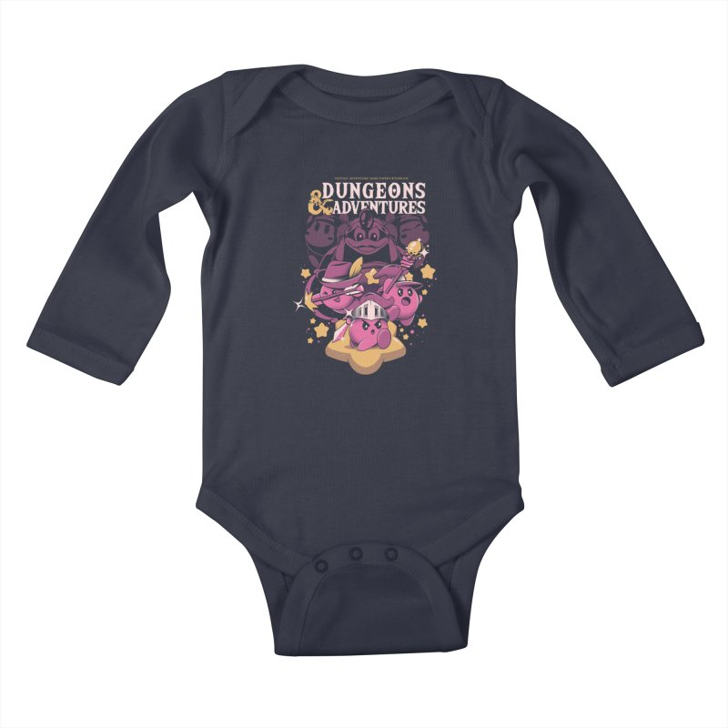 Dungeons and Adventures Kids Baby Longsleeve Bodysuit by ilustrata