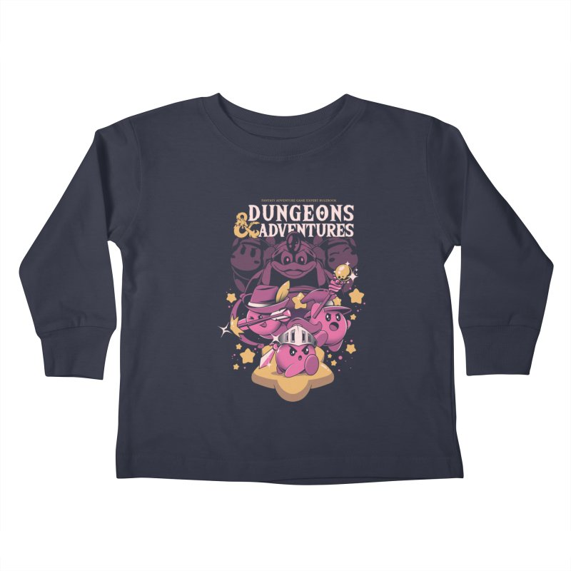 Dungeons and Adventures Kids Toddler Longsleeve T-Shirt by ilustrata