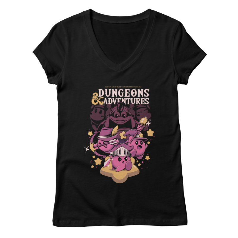 Dungeons and Adventures Women's Regular V-Neck by ilustrata