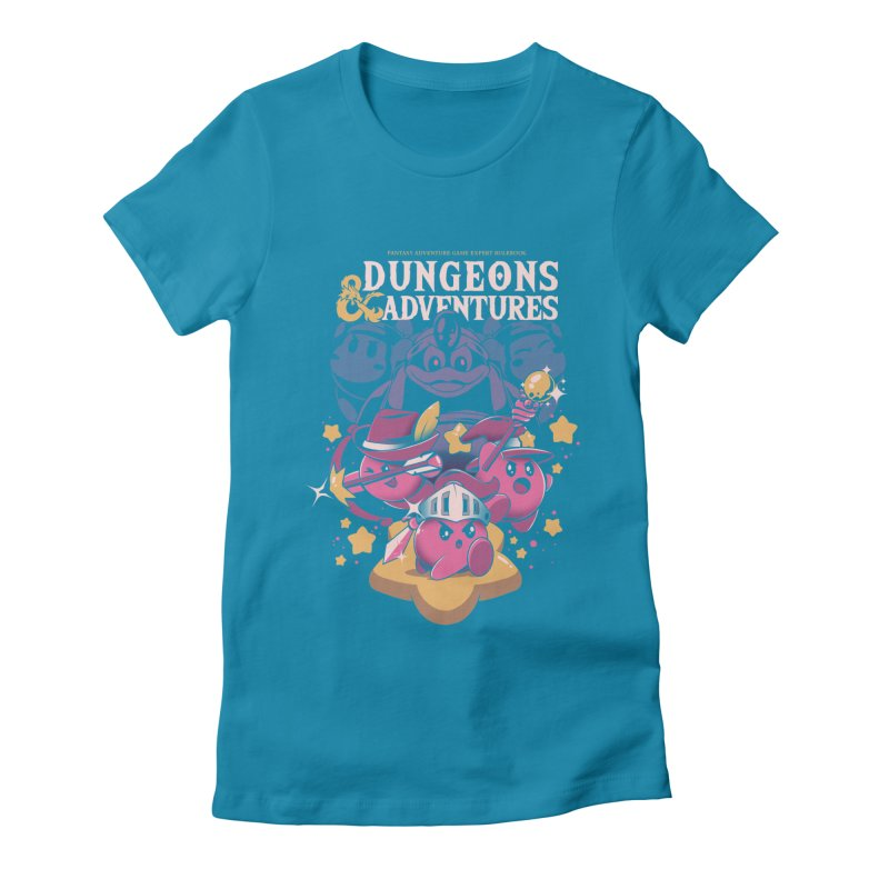 Dungeons and Adventures Women's Fitted T-Shirt by ilustrata