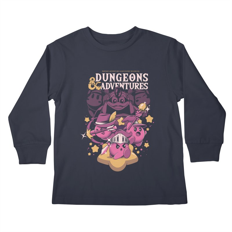 Dungeons and Adventures Kids Longsleeve T-Shirt by ilustrata