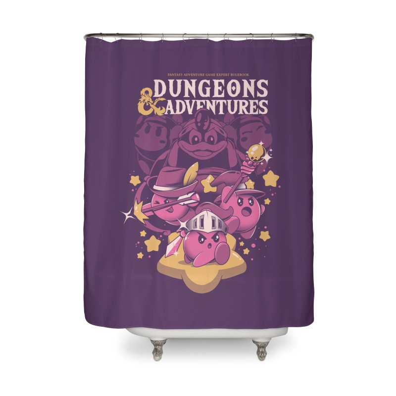 Dungeons and Adventures Home Shower Curtain by ilustrata