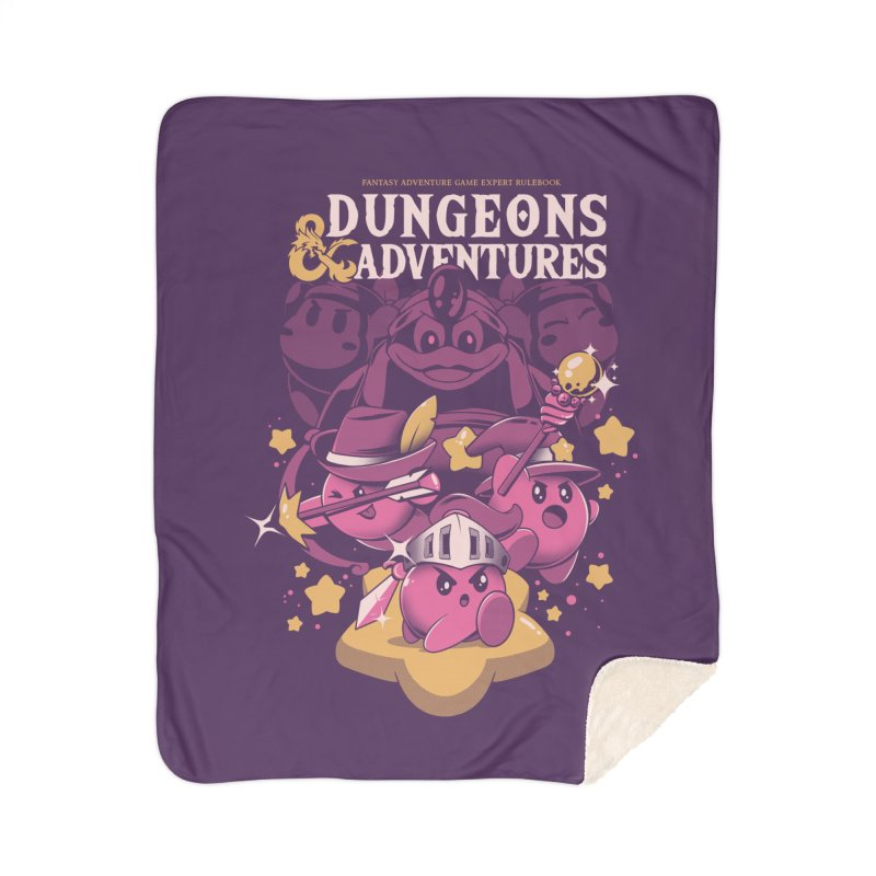 Dungeons and Adventures Home Sherpa Blanket Blanket by ilustrata
