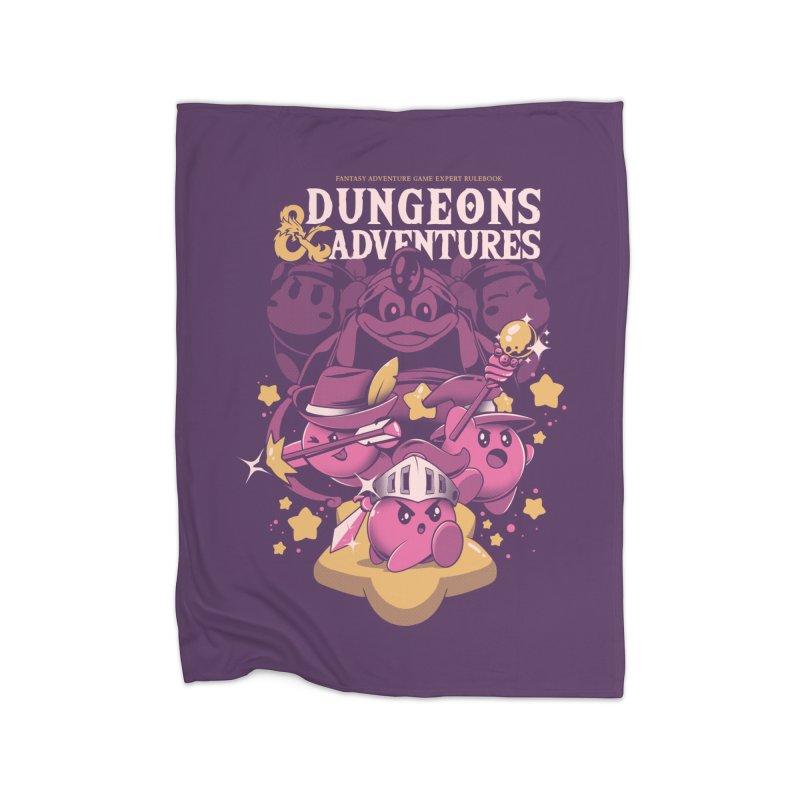 Dungeons and Adventures Home Fleece Blanket Blanket by ilustrata