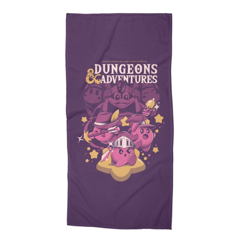 Dungeons and Adventures Accessories Beach Towel by ilustrata
