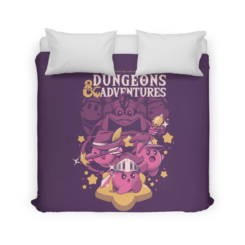 Dungeons and Adventures Home Duvet by ilustrata