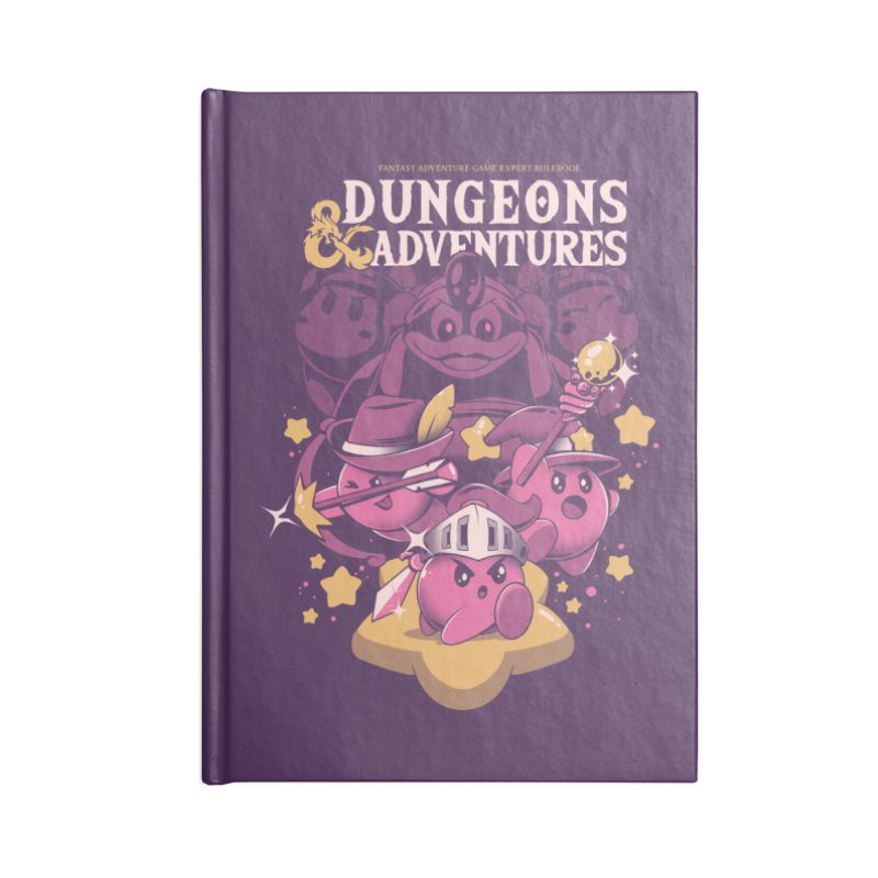 Dungeons and Adventures Accessories Lined Journal Notebook by ilustrata