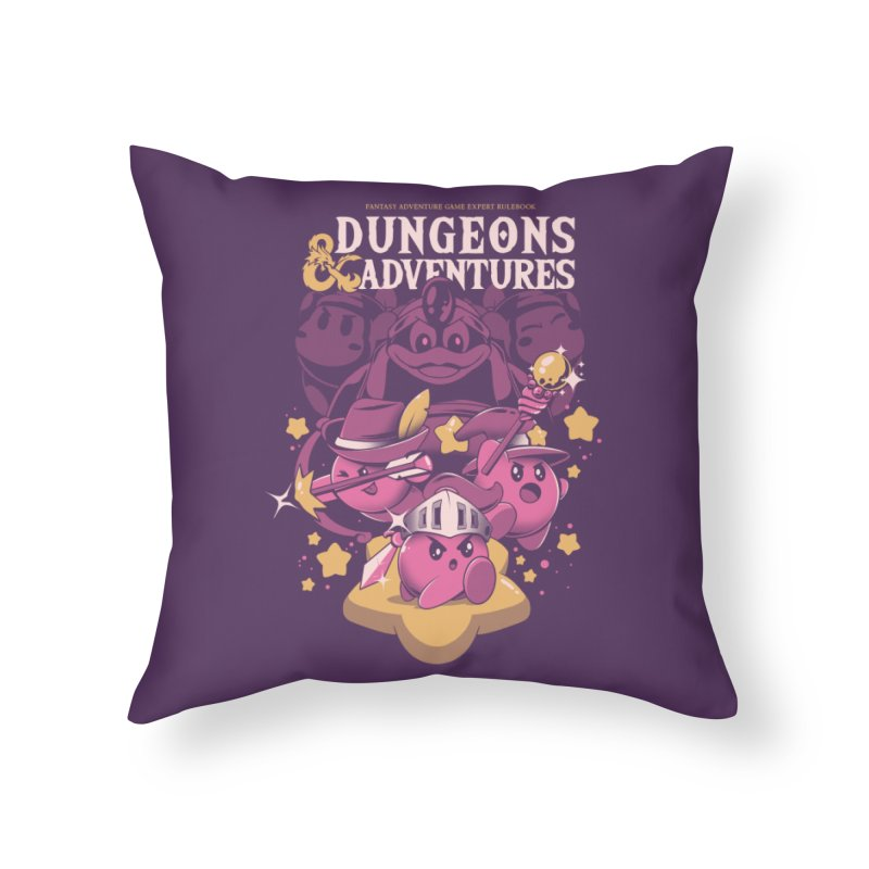 Dungeons and Adventures Home Throw Pillow by ilustrata