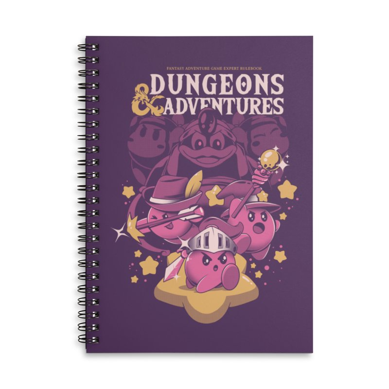 Dungeons and Adventures Accessories Lined Spiral Notebook by ilustrata