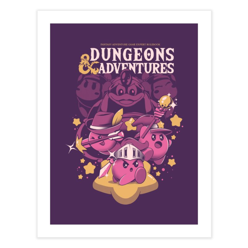 Dungeons and Adventures Home Fine Art Print by ilustrata